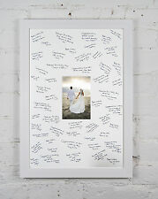 Personalized Wedding Guest Signing Signature Frame & Free Gel Pen