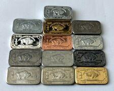 Set de 13 lingotes de 1 gr de diversos metales: Plata, Titanio, Aluminio, tugnst