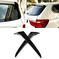 For 2011-2017 BMW X3 F25 Rear Window Spoiler Side Wing Cover Trim Gloss Black