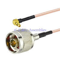 """N male to MMCX male plug right angle RF pigtail cable RG316 20cm 8"""" for Wireless"""