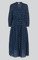 Whistles - Valeria Embroidered Dress - Multi Navy - New With Tag - Size 16