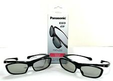 Pack of 2 Official Panasonic Viera Passive 3D Glasses Eyewear TY-EP3D10UB Black