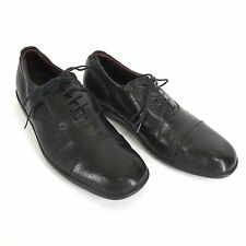 Paul Smith Oxford 7 US 41 Black Leather Square Cap Toe Mens Dress Shoes Vintage