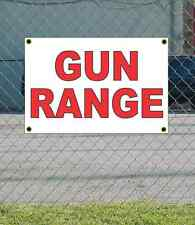 2x3 GUN RANGE Red & White Banner Sign NEW Discount Size & Price FREE SHIP