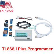 USB TL866II Plus Programmer FLASH Adapters Socket EPROM BIOS AVR MCU PIC