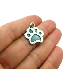 Dog Cat Animal Paw Print 925 Sterling Silver Pendant in a Gift Box