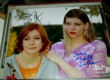 "Sarah Michelle Gellar & Amber Benson dual autograph ""Buffy the Vampire Slayer"""