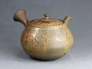 Tokoname Mogake Teapot by Gisui, #gisui85 : D84*H72mm, 180ml