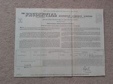 Prudential Assurance Co memrobilia Whole Life Assurance Policy 1969