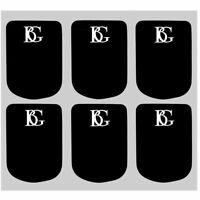 BG Mouthpiece Cushions Alto / Clarinet Black 0.8mm  6 Cushions Large  - A10L