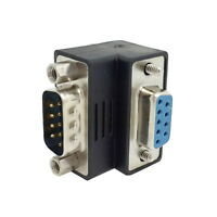 D-Sub RS232 9Pin Male to Female Up Angled 90 Degree Extension Adapter