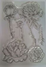 5 Rose Clear Silicone Stamp Card Making Scrapbooking Journal Notebook Diary Art