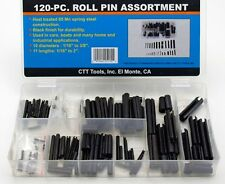 120 pc Steel Roll Keep Pin Split Spring Dowel Tension Assortment Heat Treated