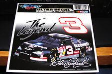 DALE EARNHARDT #3 THE LEGEND 4 X 6 NASCAR ULTRA DECAL