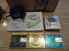 Sharp MD 180 Power Minidisc MD silber Player/Recorder + AL + 3 emtec MD 74 (885)