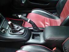 Fits MITSUBISHI 3000GT GTO ensemble de guêtres de cuir rouge piquer
