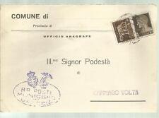 CARTOLINA POSTALE COMUNE DI BRESCIA ILL MO PODESTA' DI CAMNAGO VOLTA  1935