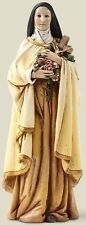 "SALE! New 6"" Saint St Therese Theresa Statue Figurine Catholic Flower Mary Gift"