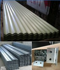 Roofing Fence Panel Sheet Curragated/Trimdek $7mt NEW/ C PURLIN