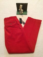 $145 Red Polo Ralph Lauren Dress-Casual Classic Fit Corduroy Holiday Pants 32x30