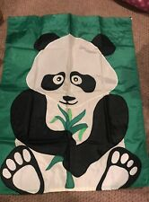 Panda Bear 28 x 38 Flag With Sleeve~Reversible Euc!