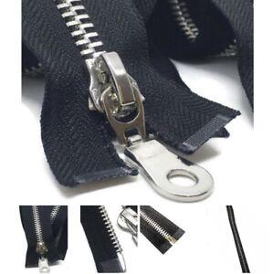Polished Silver Heavy Duty No5 Teeth Zip/Metal Open End Zipper Strong 41cm*3cm