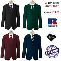 "36"" - 52"" Mens Formal Blazer Smart Jacket Black Royal Bottle Green Maroon Navy"