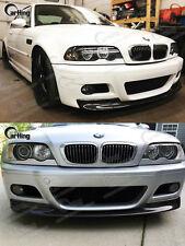US STOCK ! ! CARKING UNPAINTED 01-06 BMW E46 M3 CSL LOOK  FRONT LIP SPOILER