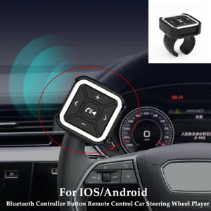 1PC Bluetooth Handsfree Remote Control Car Steering Wheel Player For IOS/Android
