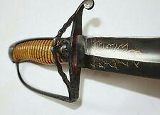 AMERICAN REVOLUTIONARY WAR BRITISH OFFICER'S HANGER SWORD CA 1779-1780