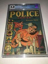 POLICE COMICS #11 (1942) CGC 5.0 VGF 1st appearance of the Spirit