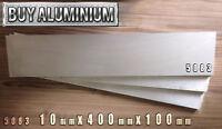 10mm Aluminium Plates / Sheets 100mm x 400mm - 5083