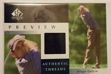 2001 sp authentic preview sergio garcia authentic threads