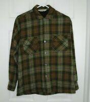 Vintage men's REI wool shirt long sleeve button down medium outdoor hiking Japan