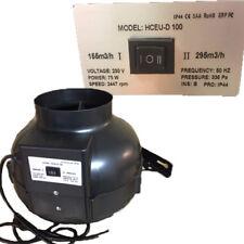 Rohrventilator Rohrlüfter 2 Stufen 100 mm 75W 155 / 295 m³/h