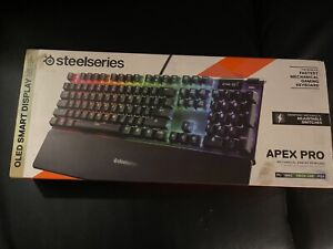 SteelSeries Apex Pro TKL Wired Mechanical Gaming Keyboard RGB Lighting Black new
