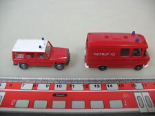 h357-0, 5 #2x WIKING H0 608 MERCEDES-BENZ MB 406 Binz , 230 G, BOMBERO, NUEVO