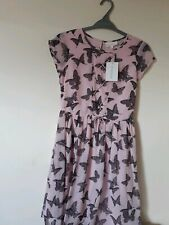 Tammy Girl Butterfly Print Tie Up Dress Pink  size 11-12 years.