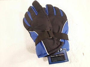 Gloves Men's XL Rugged Wear Ski Winter Snow Waterproof Insert Extra Large Blue