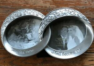 Fetco  And The Two Shall Become One  Melissa Wedding Double Rings Picture Frame