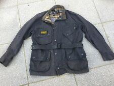 Barbour International Dark Brown/Black Wax Cotton Jacket-Size 40 ins Chest