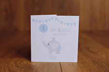 Personalised Handmade 1st first birthday card son