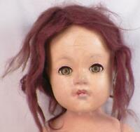Effanbee Anne Shirley Compoistion Doll 21 in. Mohair Wig Vintage To Restore