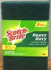 Two Packs - Scotch-Brite Heavy Duty Scour Pads 3 Pack - Total of 6 Pads