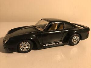 Porsche 959 Model Car-Black-1/24 Scale-Burago