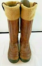 TIMBERLAND 63671 Winter Boots Brown Mount Holly Fleece Lined Leather  6 M