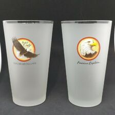 American Expedition and Explore & Discover Frosted Beer Glass Cup..Bald Eagles