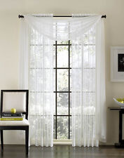 2-Piece Sheer Voile Window Treatment Curtain Panel Drapes Solid Leopard Zebra