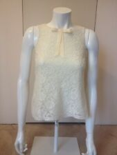 Miss Selfridge Cream Lace Sleevless Top Size 8 Excellent Condition,
