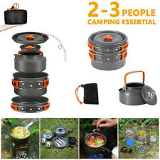 4PCS Camping Cookware Outdoor Camping Tableware Pot Pan Cooking Equipment Set